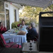 Eat alfresco at Serene Vista Spa B&B